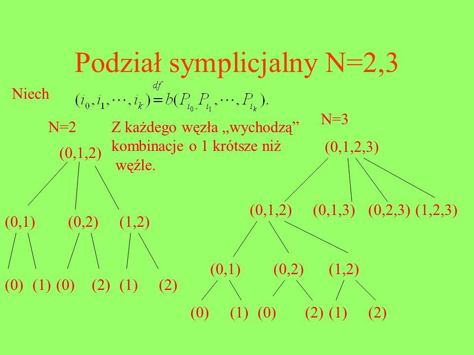Podział symplicjalny N=2,3