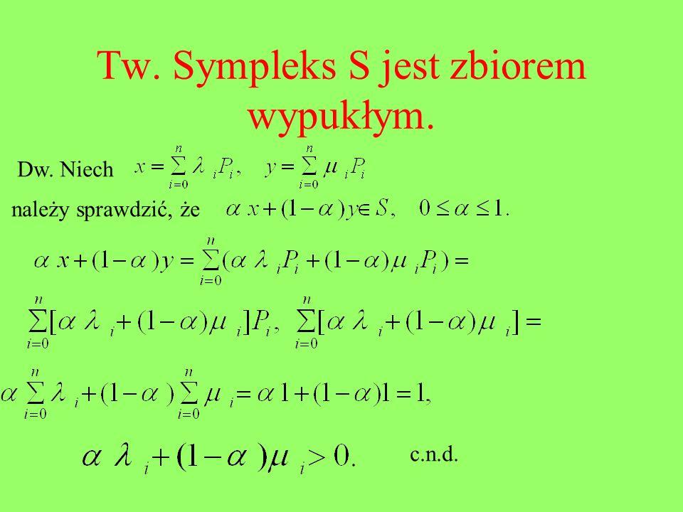 Tw. Sympleks S jest zbiorem wypukłym.