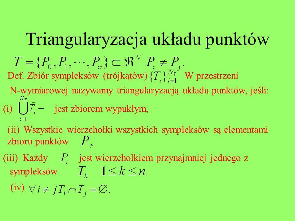 Triangularyzacja układu punktów