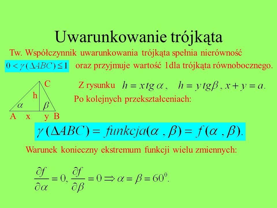 Uwarunkowanie trójkąta
