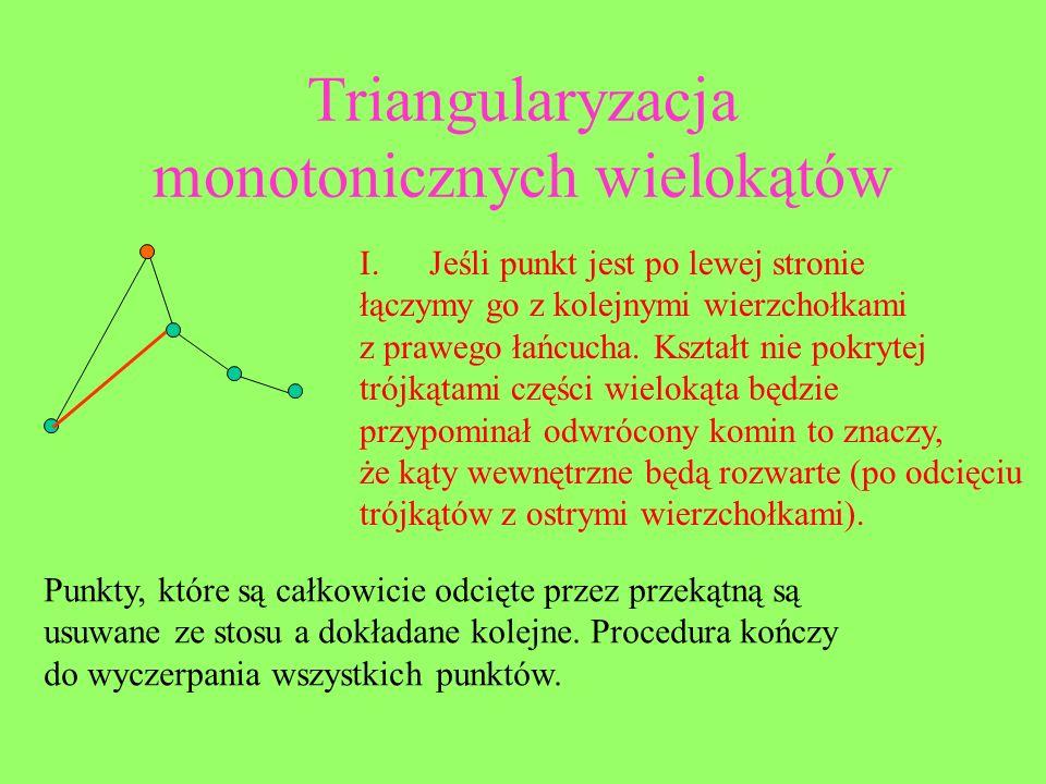 Triangularyzacja monotonicznych wielokątów