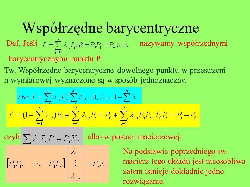 Współrzędne barycentryczne