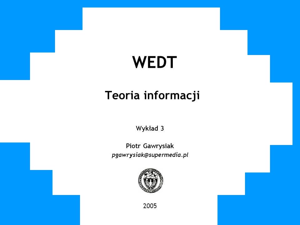 WEDT Teoria informacji