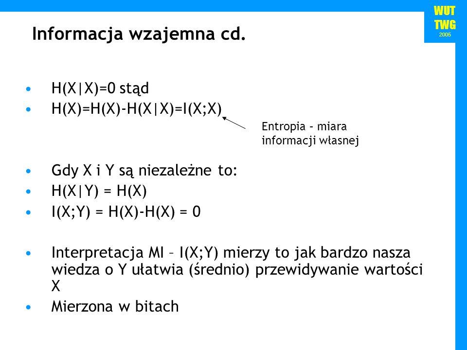 Informacja wzajemna cd.