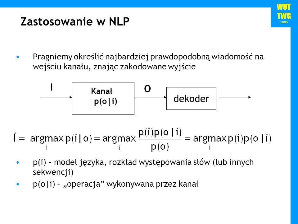 Zastosowanie w NLP I O dekoder