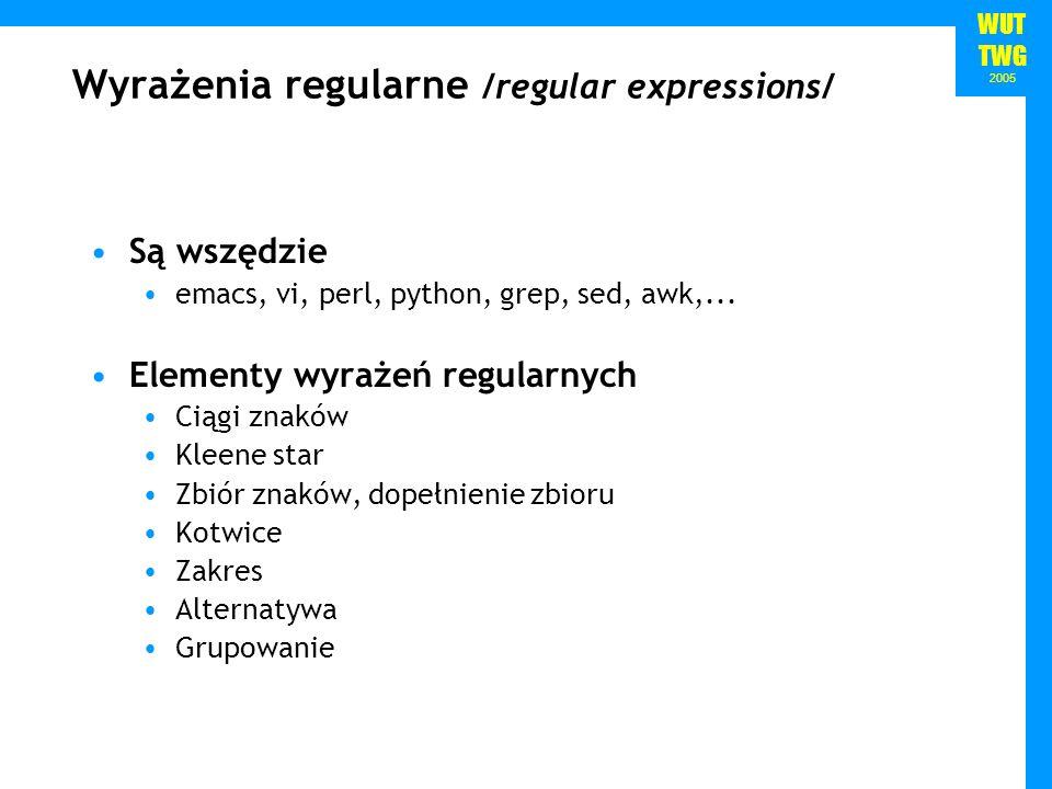 Wyrażenia regularne /regular expressions/