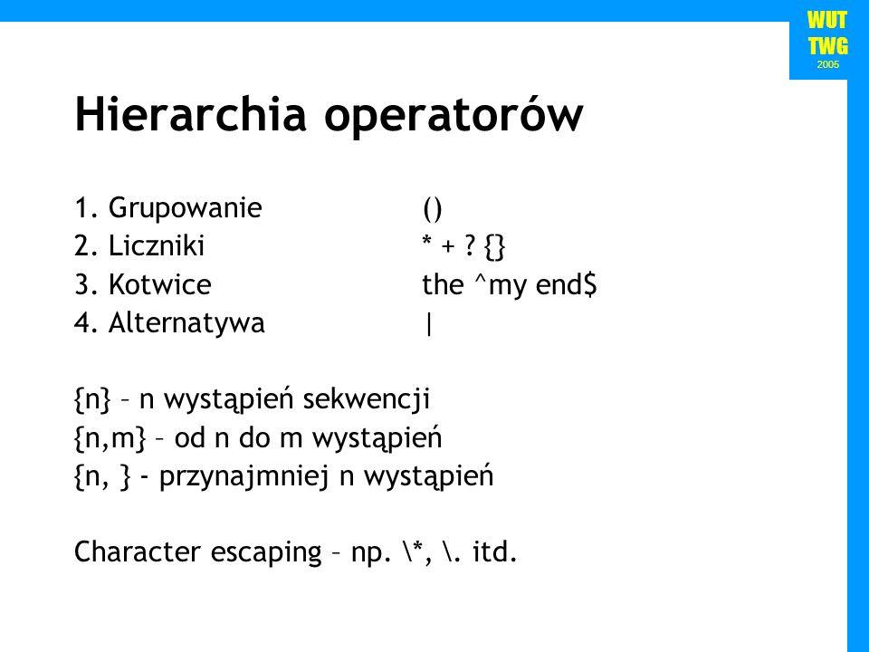 Hierarchia operatorów