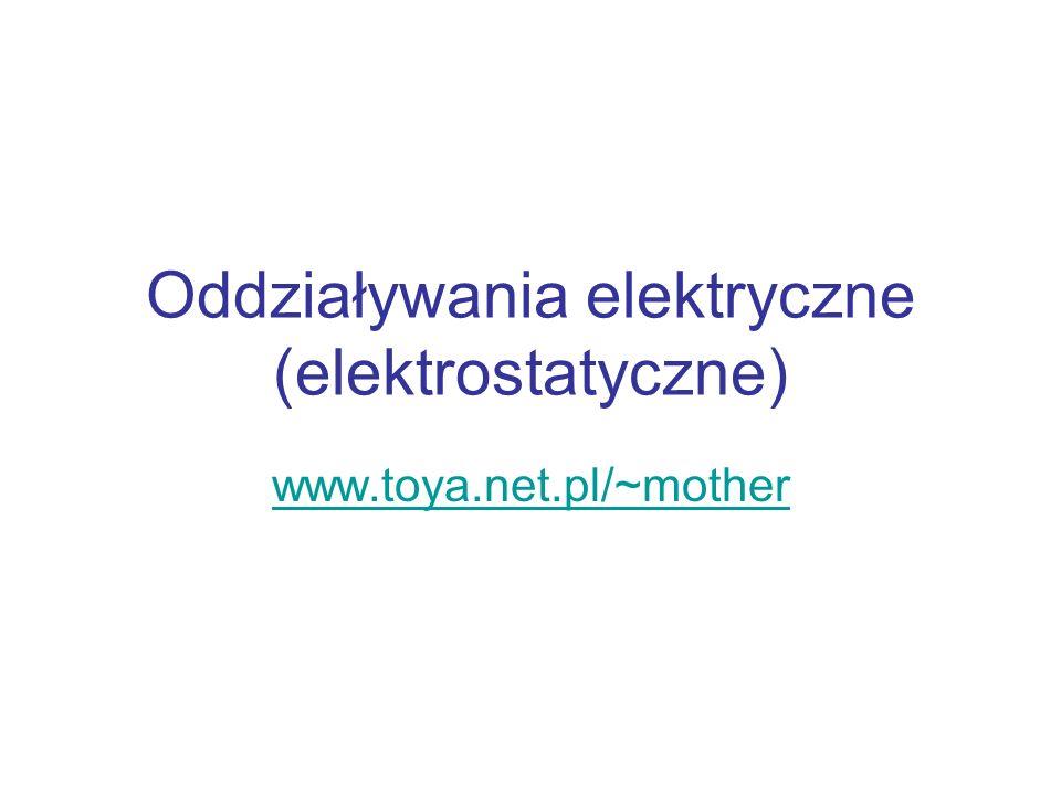 Oddziaływania elektryczne (elektrostatyczne)