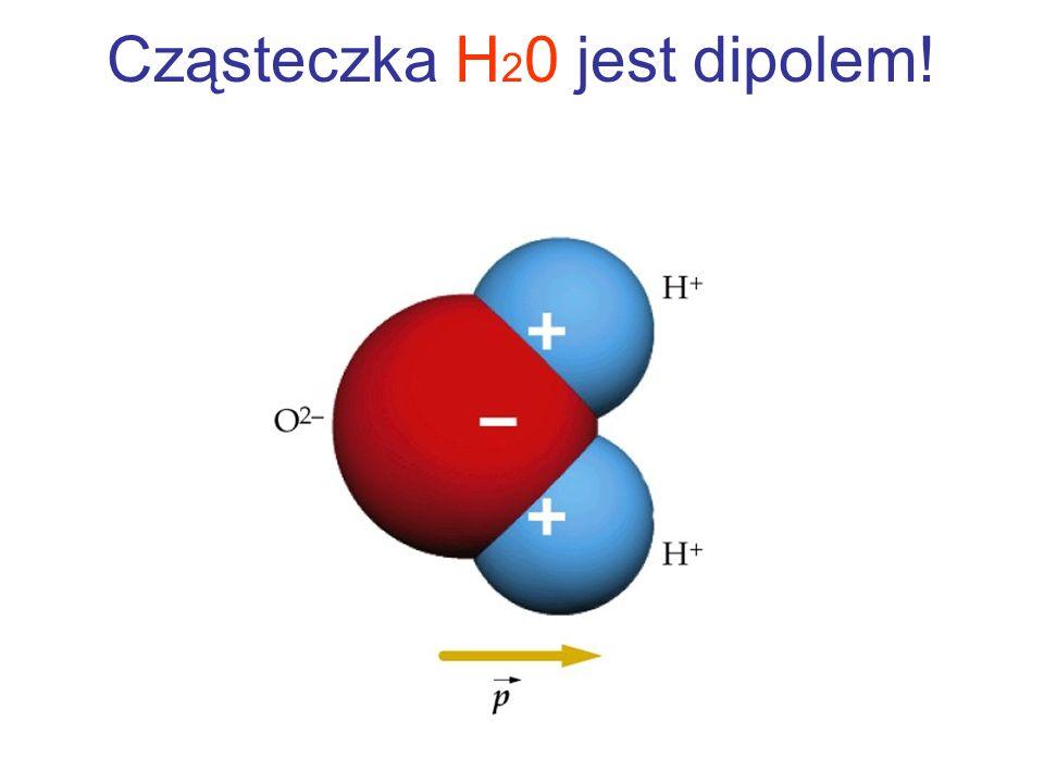 Cząsteczka H20 jest dipolem!