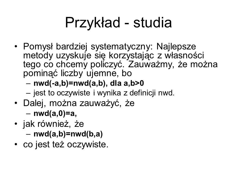 Przykład - studia