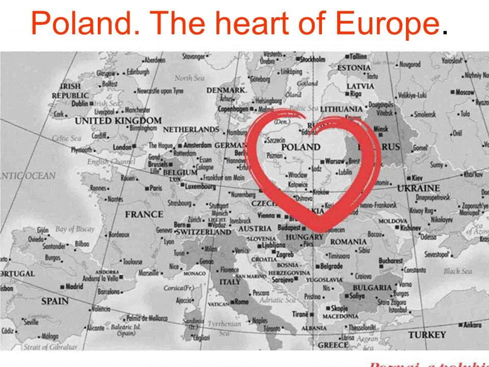 Poland. The heart of Europe.