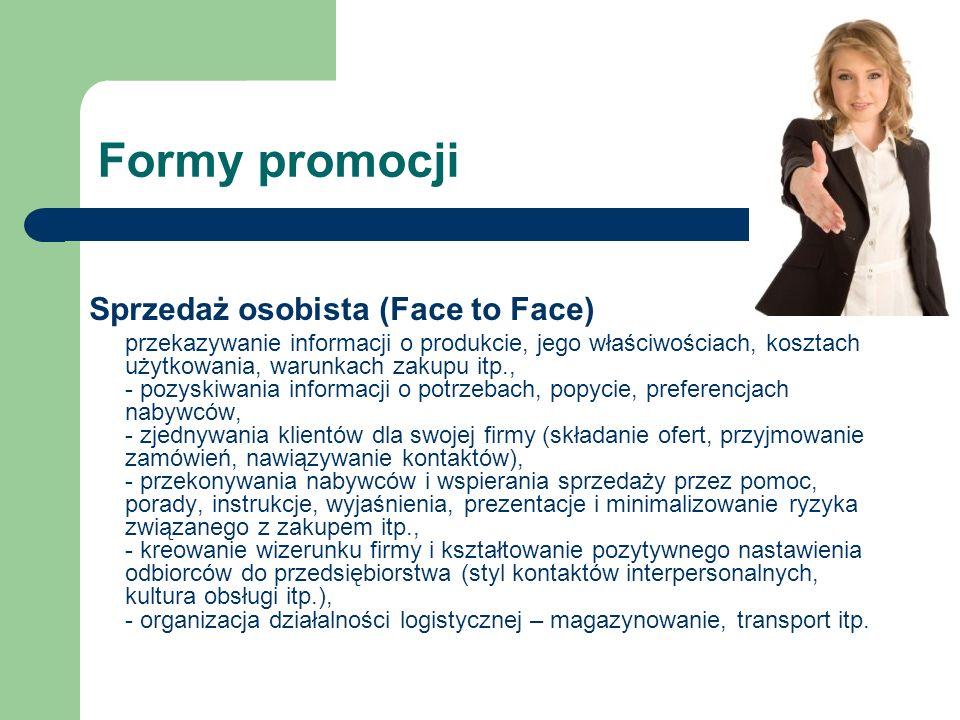 Formy promocji Sprzedaż osobista (Face to Face)