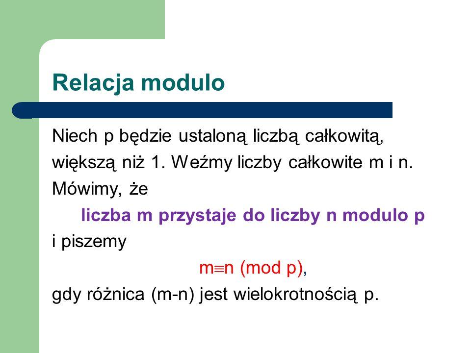 Relacja modulo