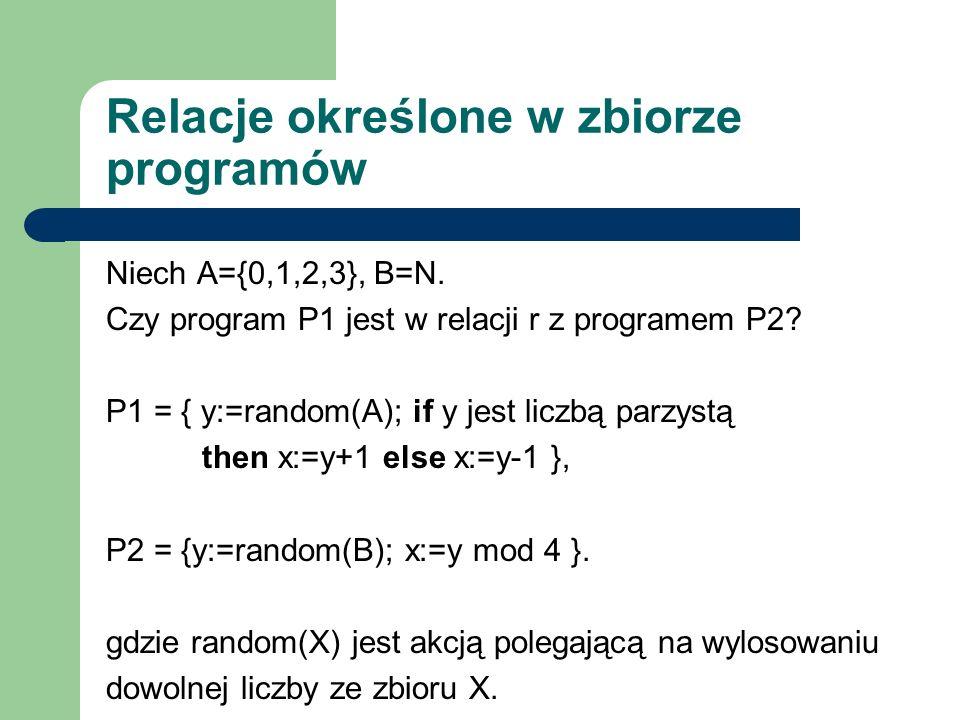 Relacje określone w zbiorze programów