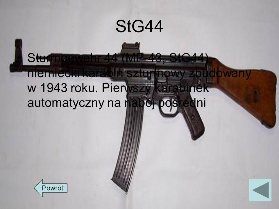 StG44 Sturmgewehr 44 (MP-43, StG44) - niemiecki karabin szturmowy zbudowany w 1943 roku. Pierwszy karabinek automatyczny na nabój pośredni.