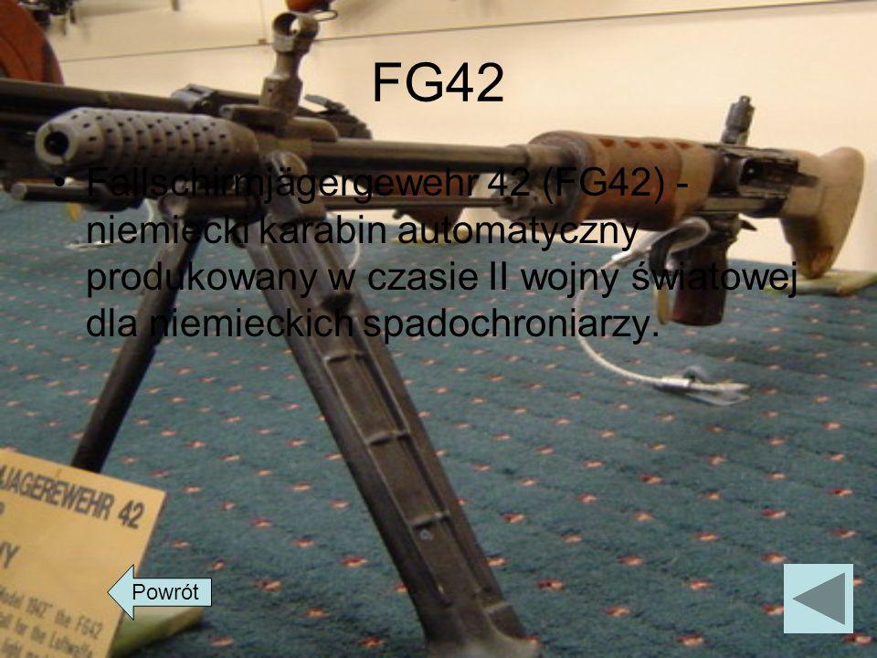 FG42Fallschirmjägergewehr 42 (FG42) - niemiecki karabin automatyczny produkowany w czasie II wojny światowej dla niemieckich spadochroniarzy.