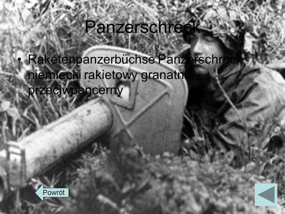 Panzerschreck Raketenpanzerbüchse Panzerschreck - niemiecki rakietowy granatnik przeciwpancerny.