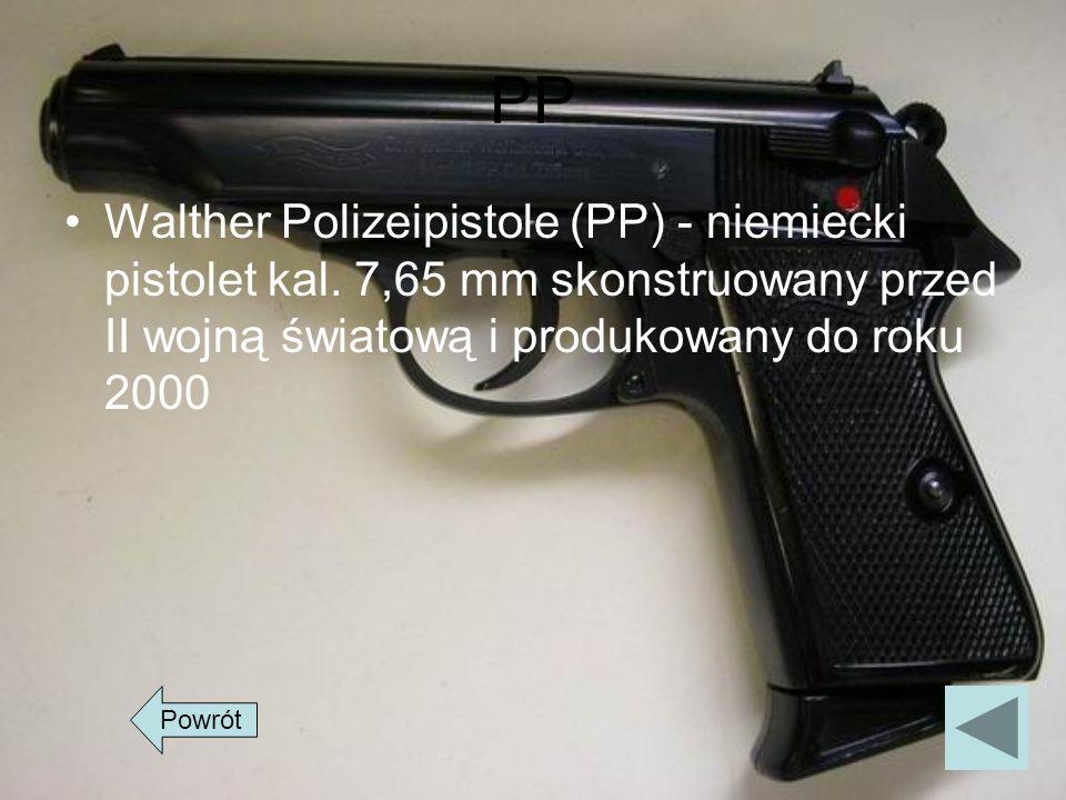 PPWalther Polizeipistole (PP) - niemiecki pistolet kal. 7,65 mm skonstruowany przed II wojną światową i produkowany do roku 2000.