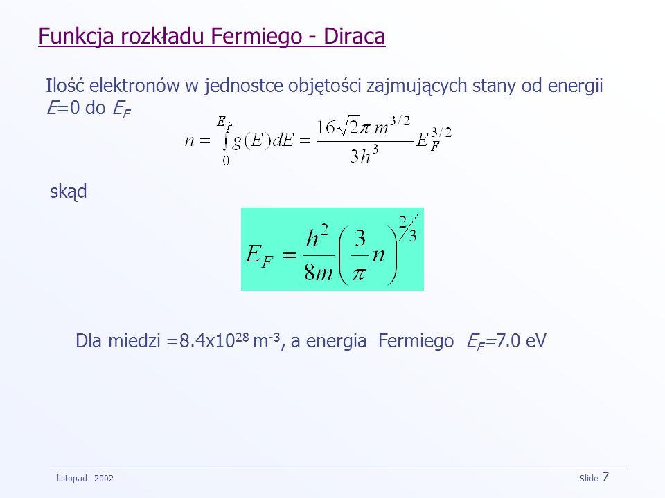 Funkcja rozkładu Fermiego - Diraca