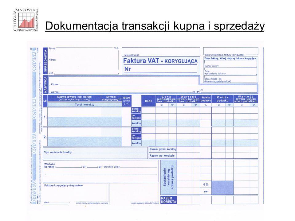 Dokumentacja transakcji kupna i sprzedaży
