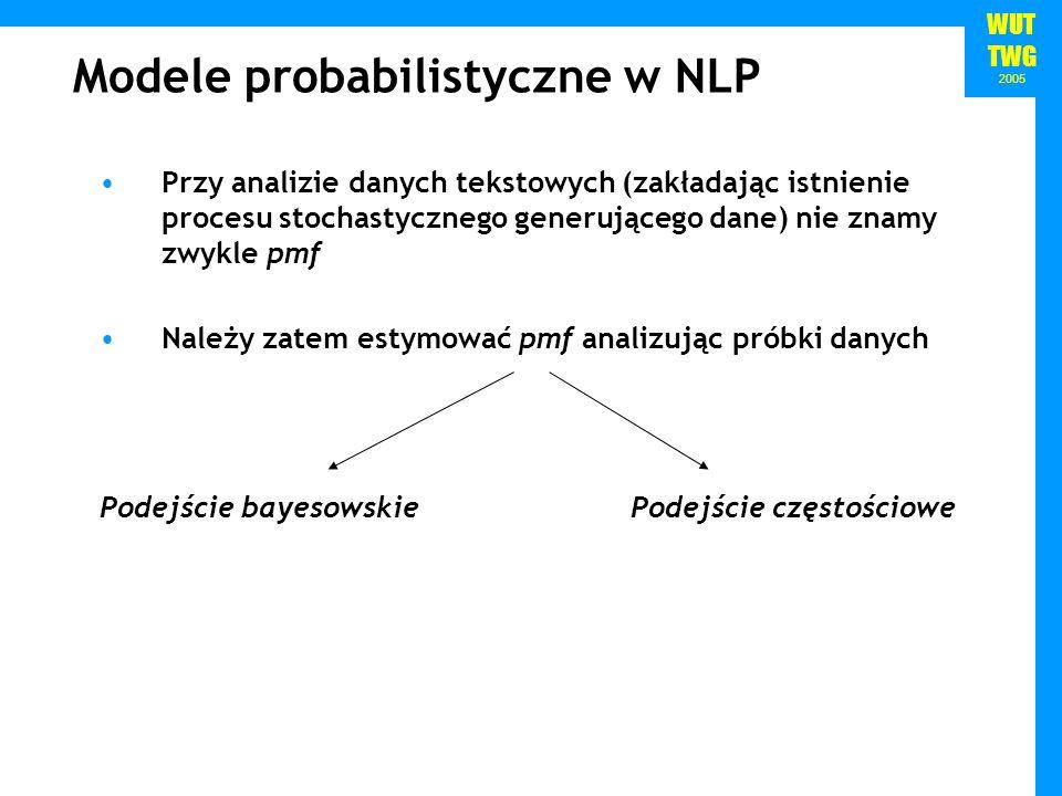 Modele probabilistyczne w NLP