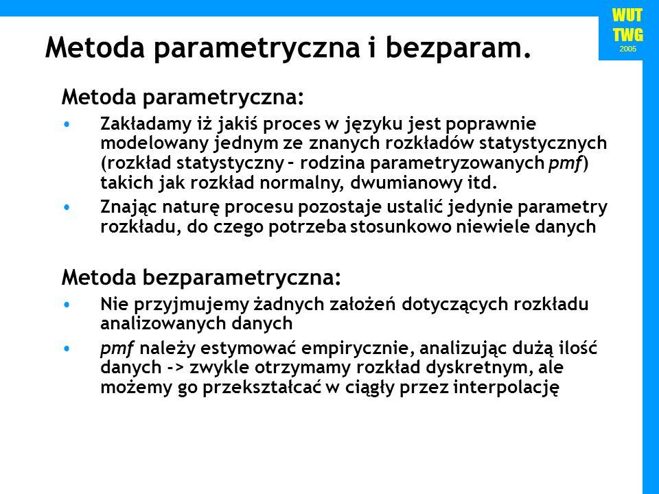 Metoda parametryczna i bezparam.