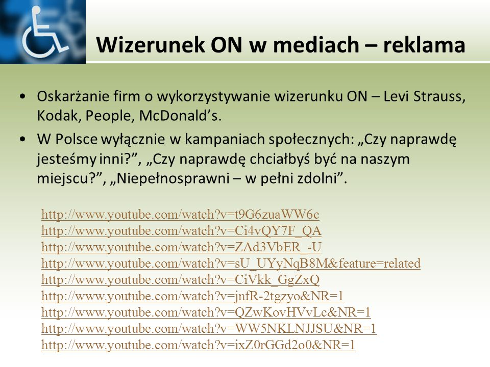 Wizerunek ON w mediach – reklama