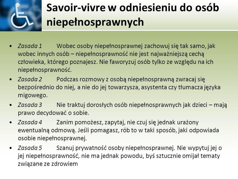 Savoir-vivre w odniesieniu do osób niepełnosprawnych