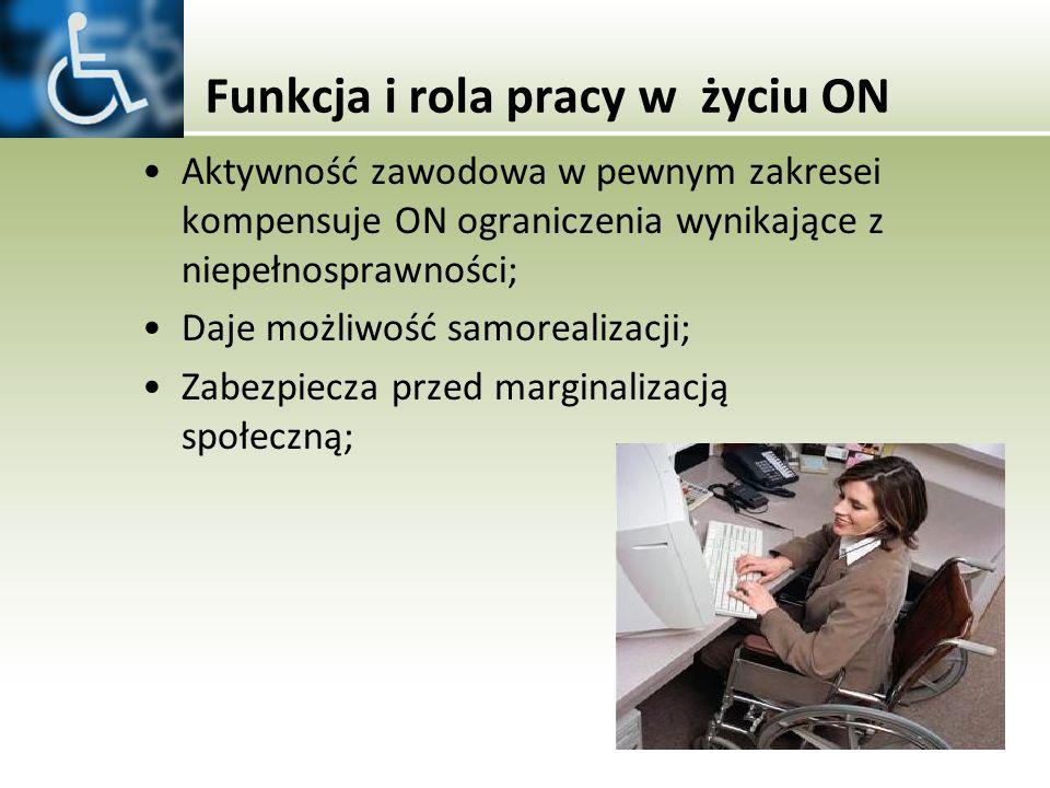 Funkcja i rola pracy w życiu ON