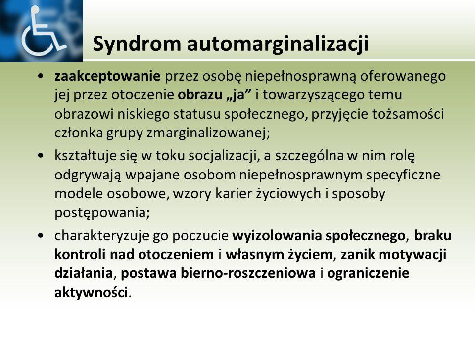 Syndrom automarginalizacji