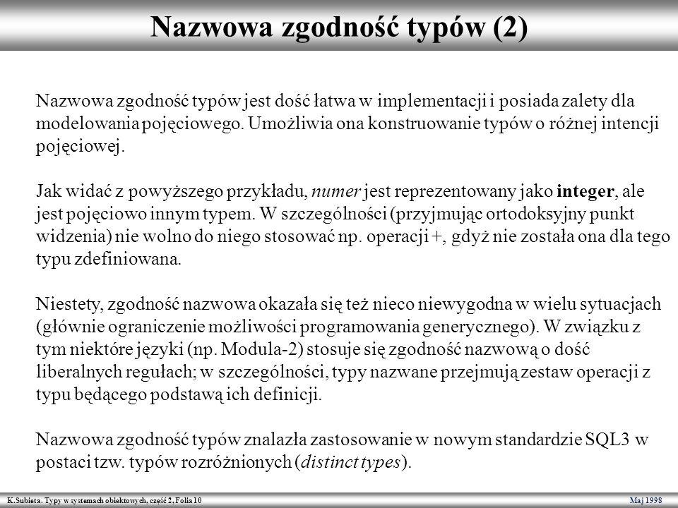 Nazwowa zgodność typów (2)