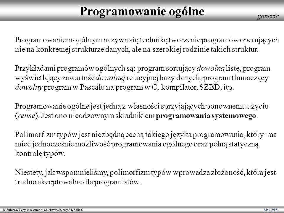 Programowanie ogólne generic.