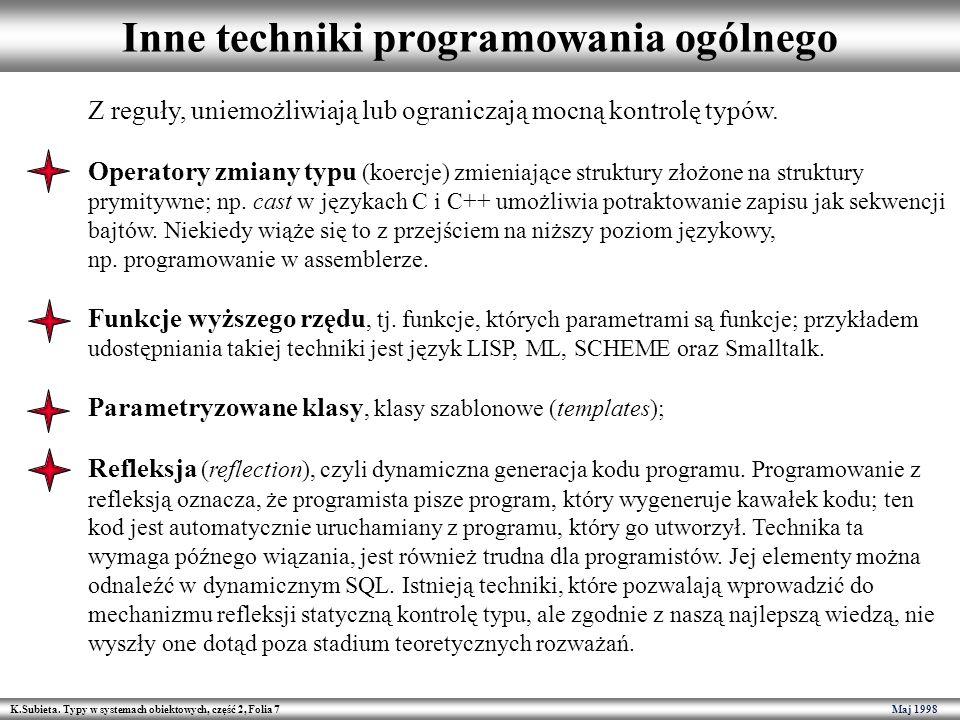 Inne techniki programowania ogólnego