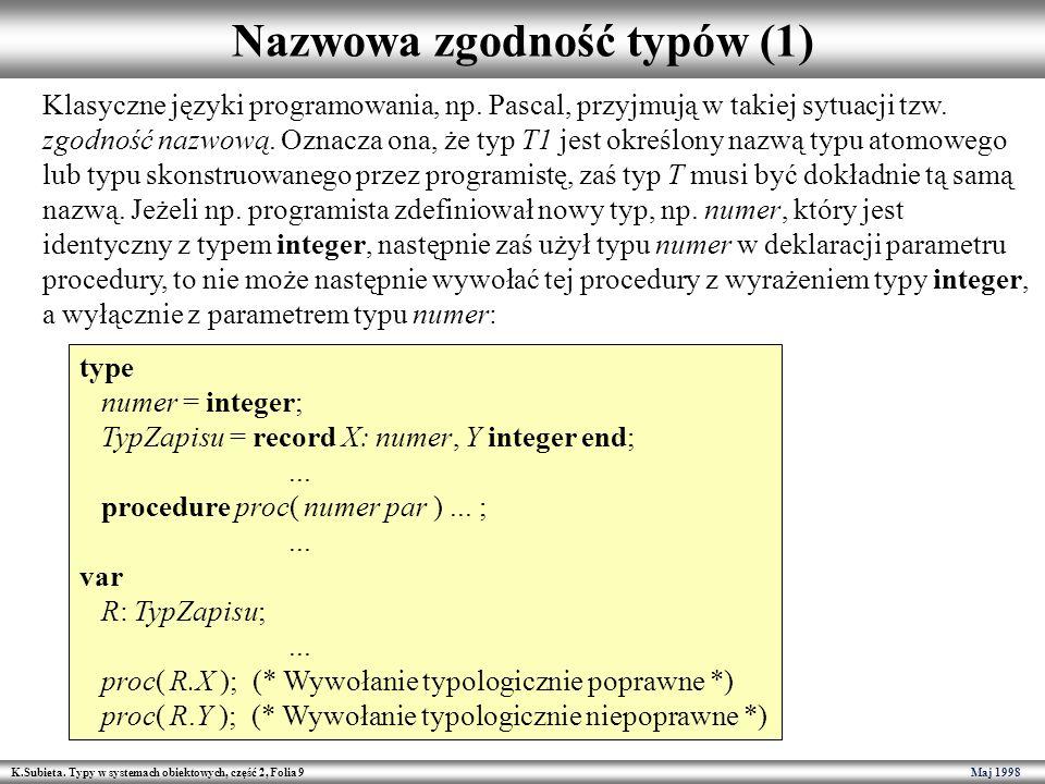 Nazwowa zgodność typów (1)