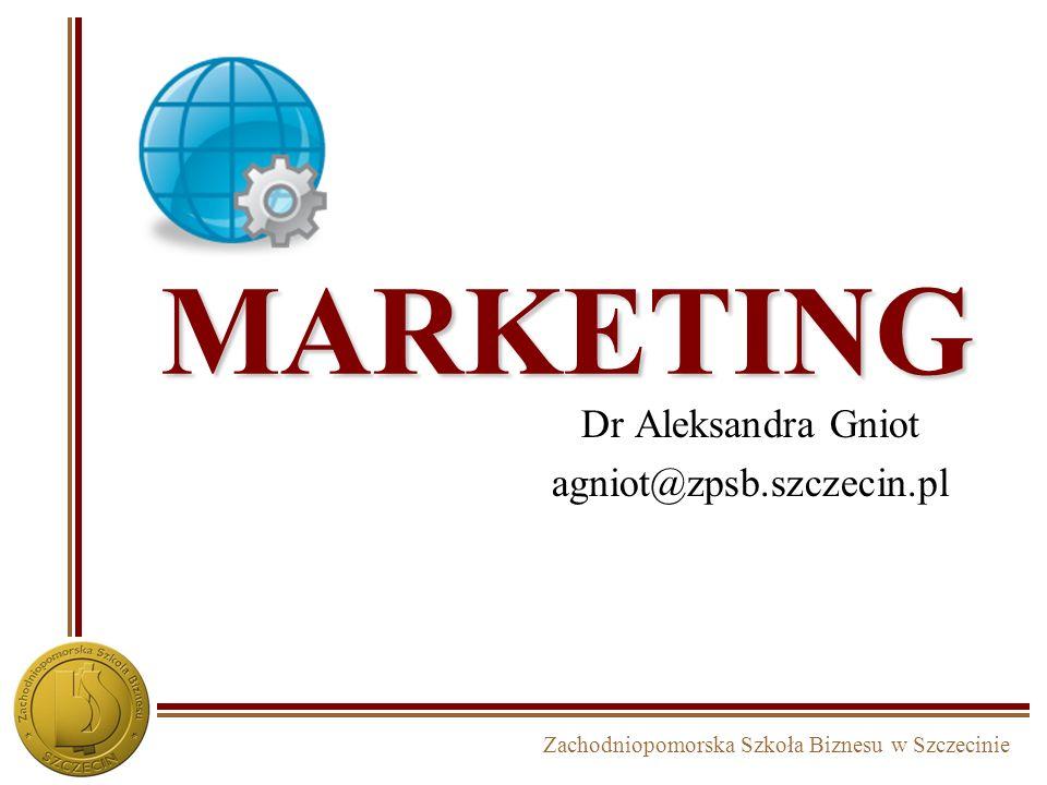 Dr Aleksandra Gniot agniot@zpsb.szczecin.pl