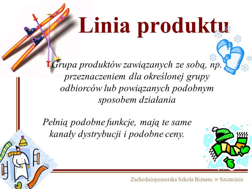 Linia produktuGrupa produktów zawiązanych ze sobą, np. przeznaczeniem dla określonej grupy odbiorców lub powiązanych podobnym sposobem działania.