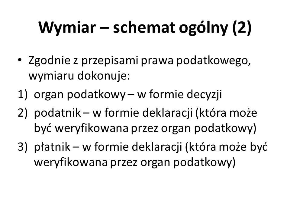 Wymiar – schemat ogólny (2)