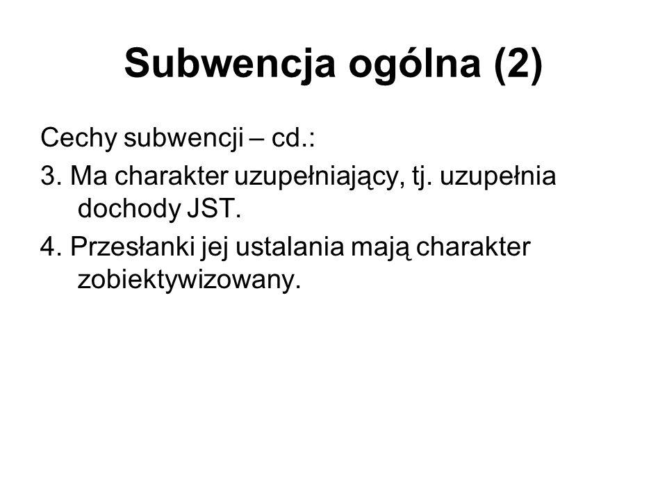 Subwencja ogólna (2)