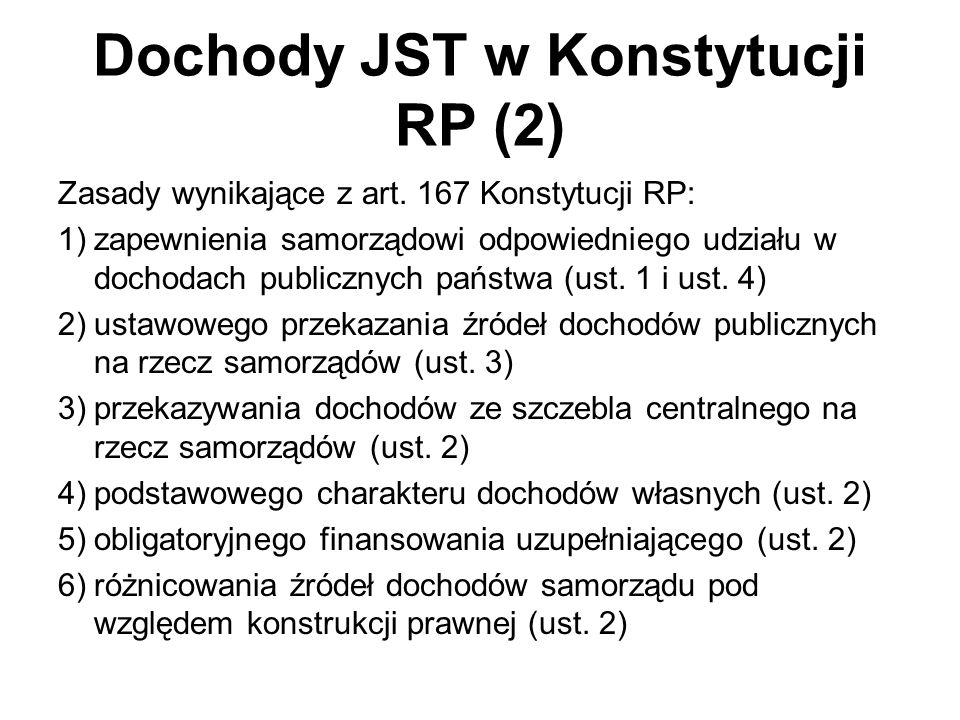 Dochody JST w Konstytucji RP (2)