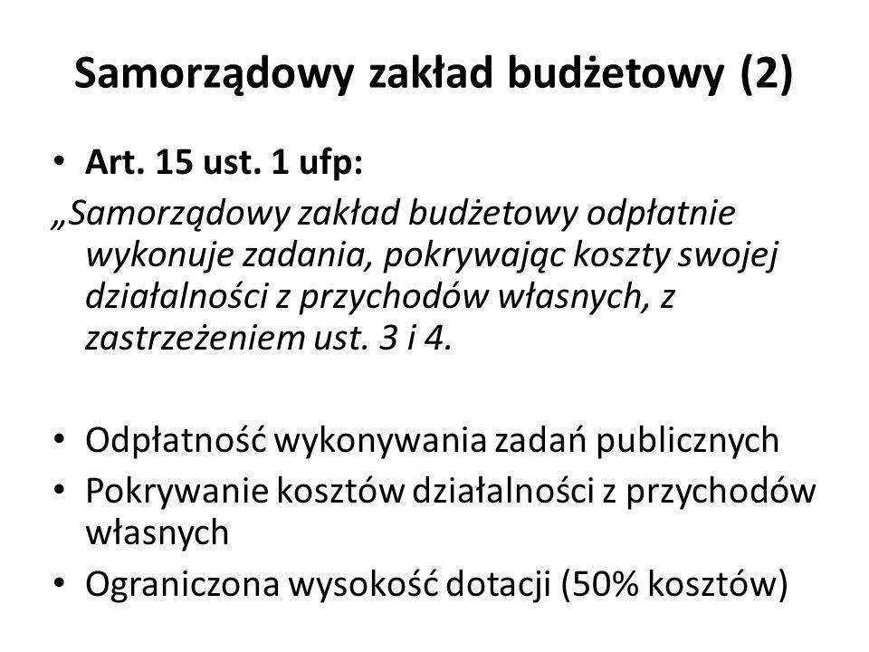 Samorządowy zakład budżetowy (2)