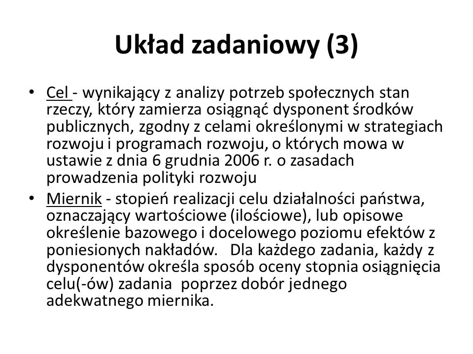 Układ zadaniowy (3)