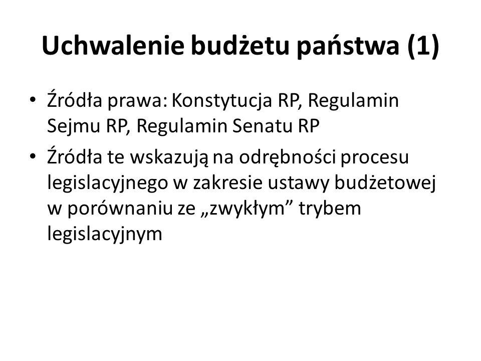 Uchwalenie budżetu państwa (1)