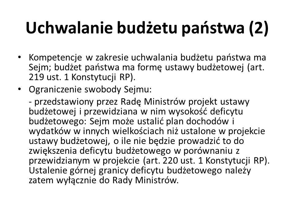 Uchwalanie budżetu państwa (2)