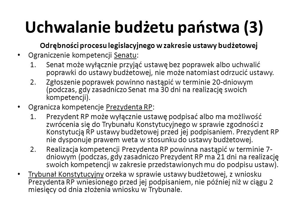 Uchwalanie budżetu państwa (3)