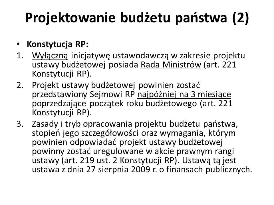 Projektowanie budżetu państwa (2)