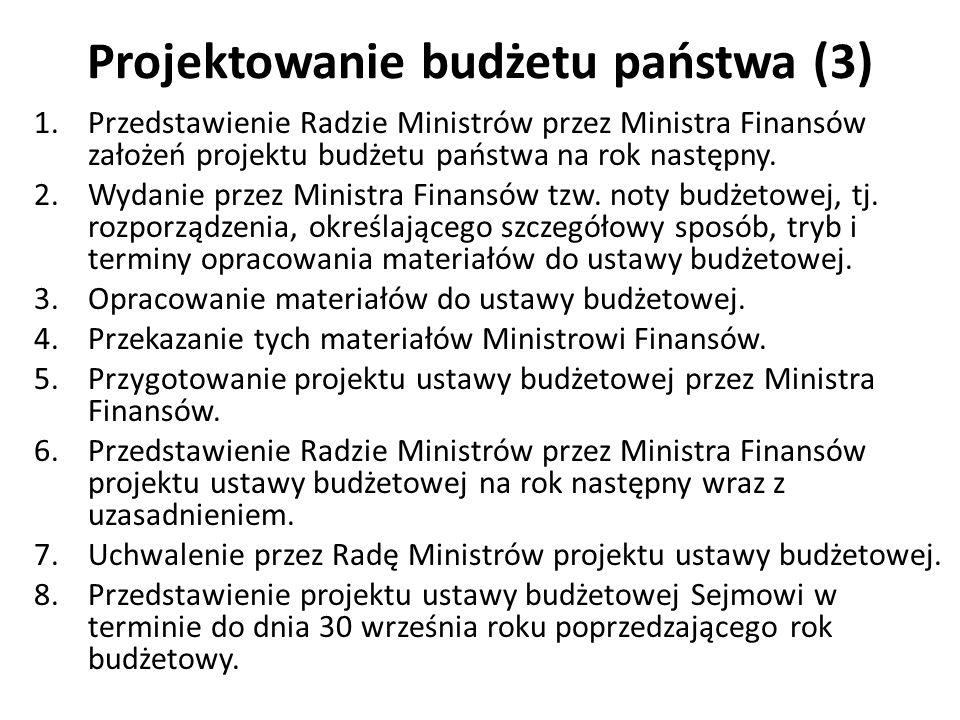 Projektowanie budżetu państwa (3)