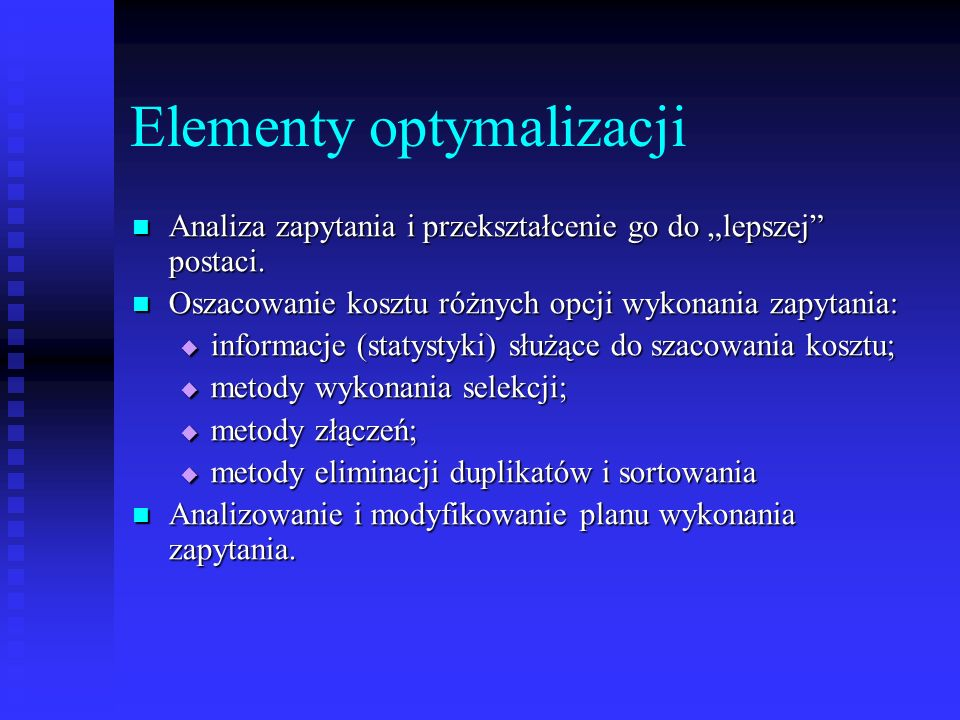 Elementy optymalizacji