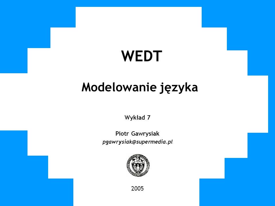 WEDT Modelowanie języka