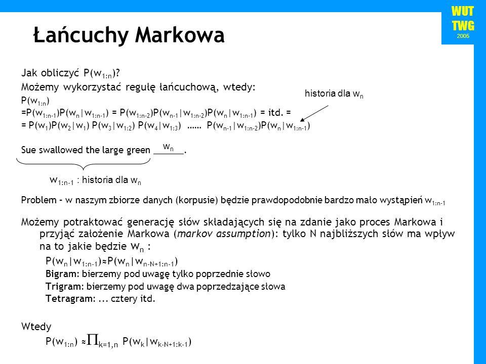 Łańcuchy Markowa Jak obliczyć P(w1:n)