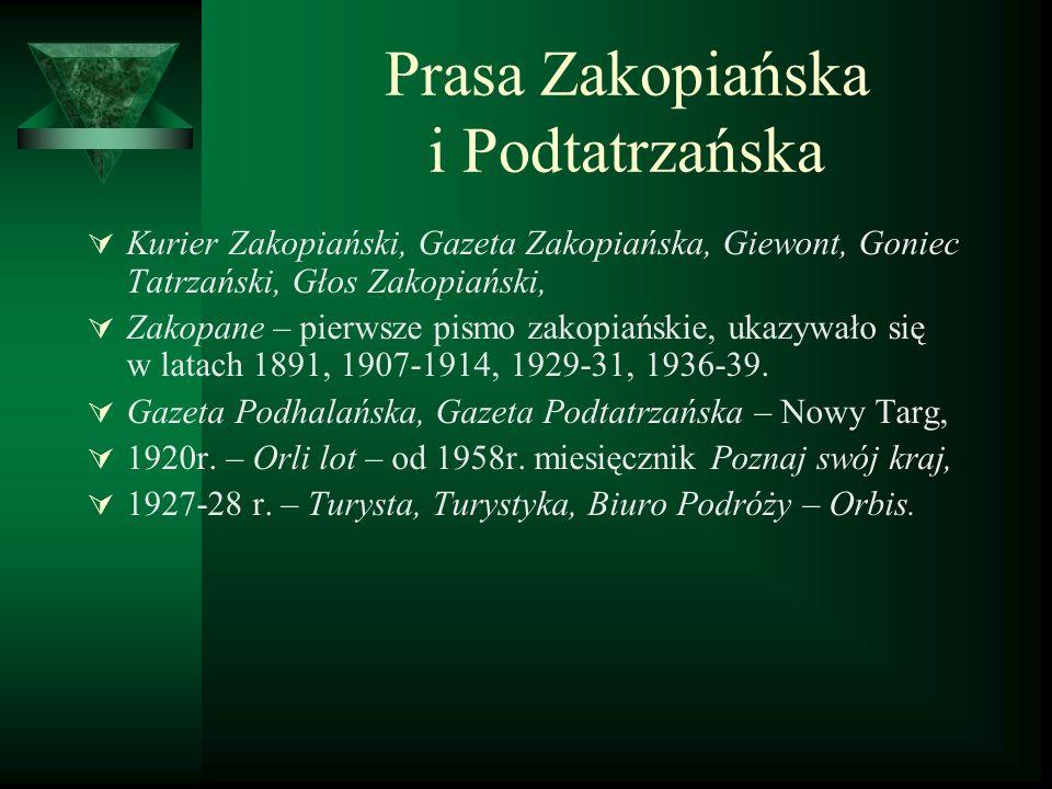 Prasa Zakopiańska i Podtatrzańska